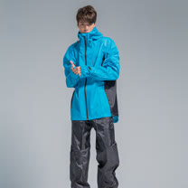 OutPerform-玩酷率性兩件式風雨衣-湖藍/黑