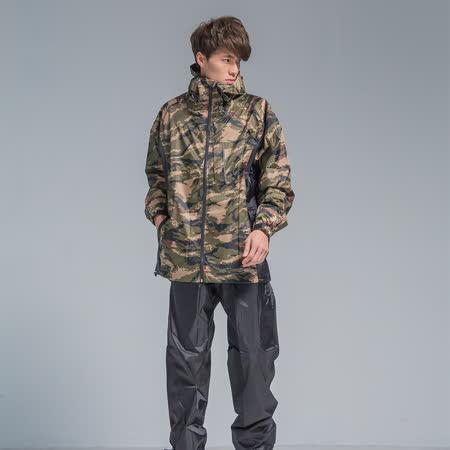 OutPerform-玩酷率性兩件式風雨衣-綠迷彩/黑