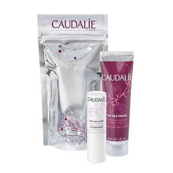 Caudalie 紫色香水冬季之戀組 (護唇膏4.5g+紫色香水手部及指甲修護霜30ml)