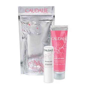 Caudalie 玫瑰冬季之戀組 (護唇膏4.5g+玫瑰手部及指甲修護霜30ml)