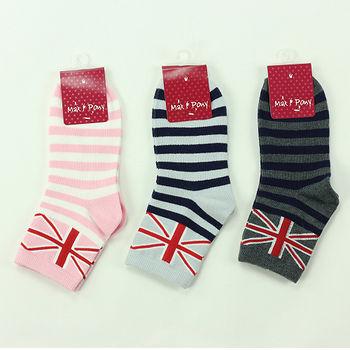 M&P 英國旗條紋1/2襪-3色(22~24cm)