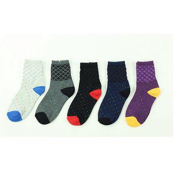M&P 菱格撞色點點1/2襪-5色(22~24cm)