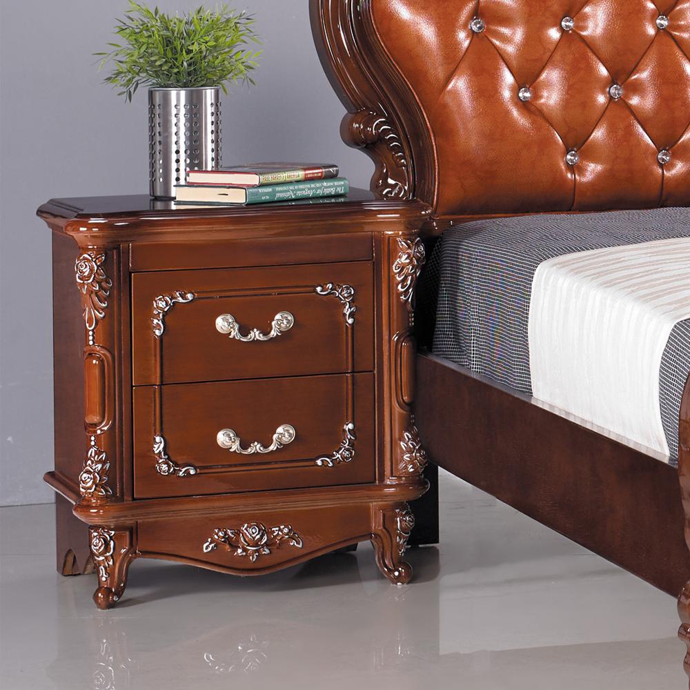 HAPPYHOME 拉緹雅2尺法式胡桃床頭櫃G16~067~3