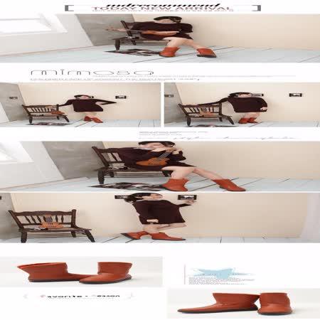 【Moscova】經典永恆。格紋防水中筒厚底雪靴-橘色