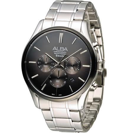 ALBA 簡約時尚計時腕錶 VD53-X238D AT3963X1 灰