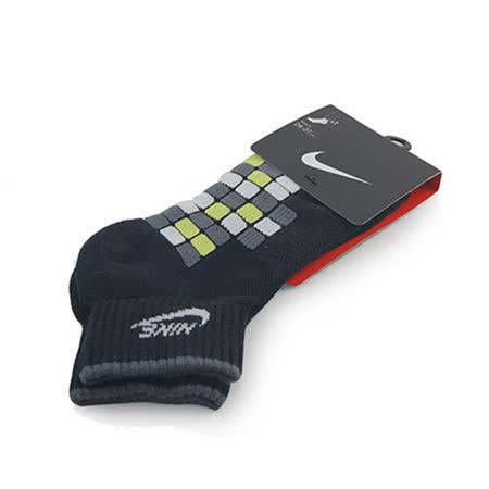 NIKE NSW WAFFLE QUARTER 短襪 黑/深灰/螢光黃-SX3872011