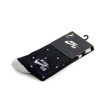 NIKE SB DOT CREW SOCK 中筒襪 黑/白-SX5085010