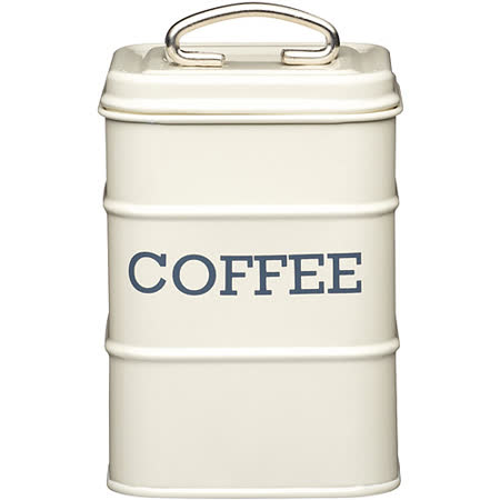 《KitchenCraft》復古咖啡收納罐(奶油黃)