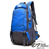 DF BAGSCHOOL - 開拓眼界機能防潑水大容量後背包-藍色