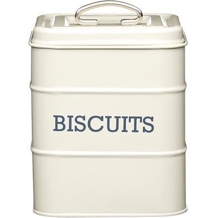 《KitchenCraft》復古餅乾密封罐(奶油黃)