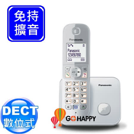 Panasonic DECT國際牌數位無線電話機 KX-TG6811 / KX TG6811 (雪皚白)