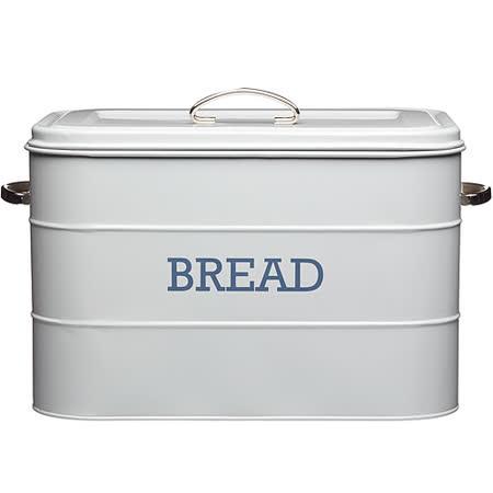 《KitchenCraft》復古麵包收納盒(灰)
