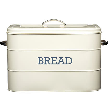 《KitchenCraft》復古麵包收納盒(奶油黃)