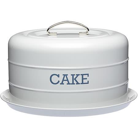《KitchenCraft》復古蛋糕密封盤(灰)