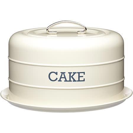 《KitchenCraft》復古蛋糕密封盤(奶油黃)