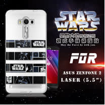 STAR WARS 星際大戰 ASUS ZenFone 2 Laser 5.5吋 ZE550KL 彩繪軟式手機殼 保護殼(橫條黑武士)