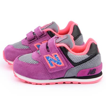 NewBalance 小童 經典574復古運動鞋KG574O5I-紫