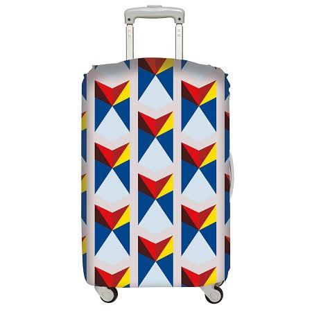 【好物推薦】gohappy 購物網LOQI 行李箱套│三角形【L 號】價錢大 遠 百 幾 點 開