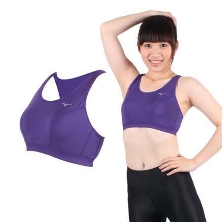 (女) MIZUNO 運動內衣- BRA 運動背心 美津濃 紫