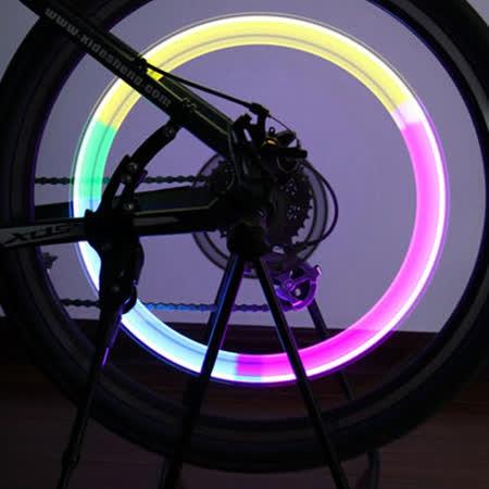【OUTBOUND】感光感震LED車輪警示燈/輪圈燈(一組2入)附電池