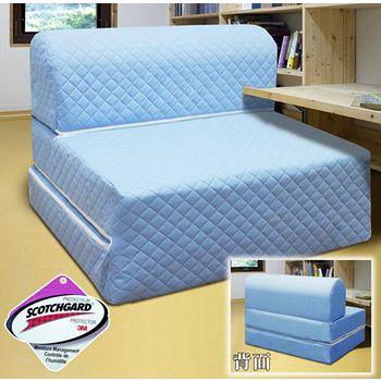 KOTAS 高週波吸濕排汗彈簧沙發床椅- 單人3尺(藍)