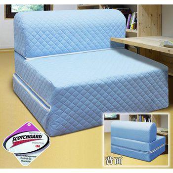 KOTAS 高週波吸濕排汗彈簧沙發床椅- 雙人5尺(藍)