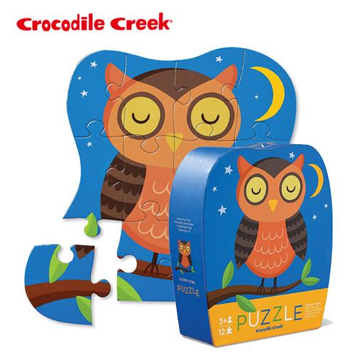 ~美國Crocodile Creek~迷你 拼圖系列~晚安貓頭鷹