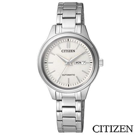 CITIZEN星辰 休閒時尚女仕機械腕錶-白 PD7140-58A