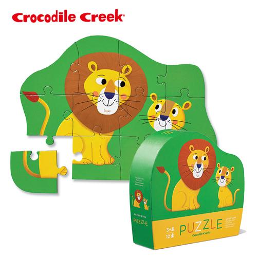 ~美國Crocodile Creek~迷你 拼圖系列~親親小獅