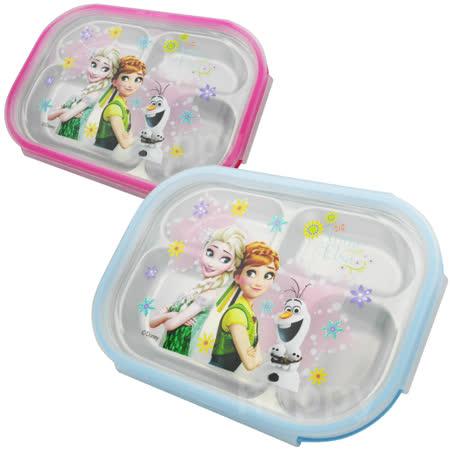 冰雪奇緣不銹鋼分格保鮮餐盤便當盒