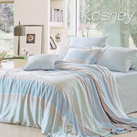《KOSNEY  半醒》特大100%天絲全舖棉四件式兩用被冬包組
