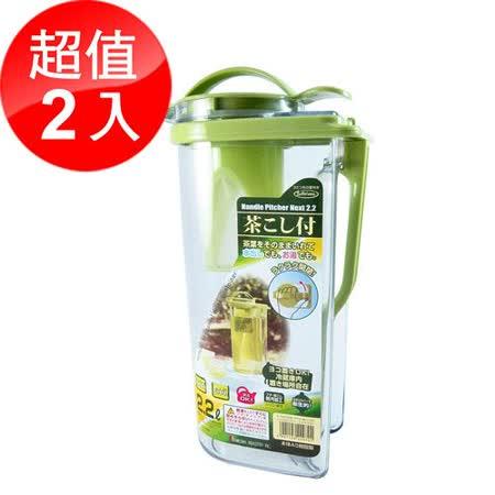 福利品【TCoffee】日本岩崎耐熱冷水壺2.2L - 2入組
