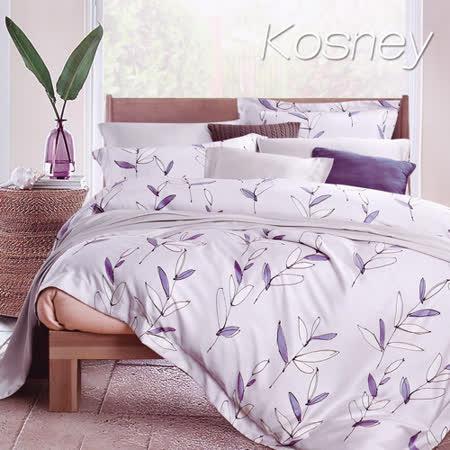 《KOSNEY 原野》特大100%天絲全舖棉四件式兩用被冬包組