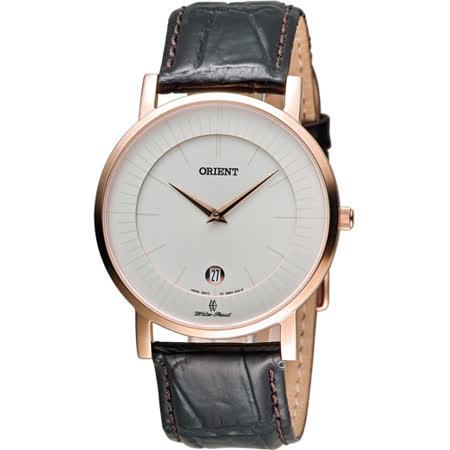 ORIENT 東方錶簡約時尚石英錶 FGW0100CW