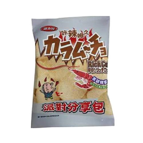 卡辣姆久厚切洋芋片-黑胡椒蝦口味150g