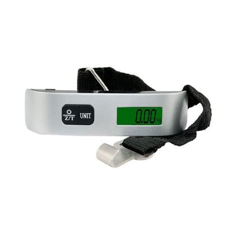 (出國購物行李防過重好幫手)攜帶手提式((非營業用))液晶顯示電子行李秤  (耐重50kg) LFS106