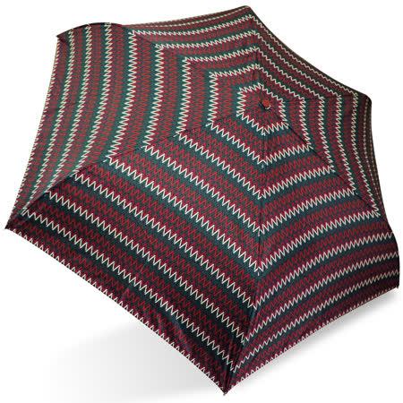 【rainstory】幾何曲線(深紅)抗UV輕細口紅傘