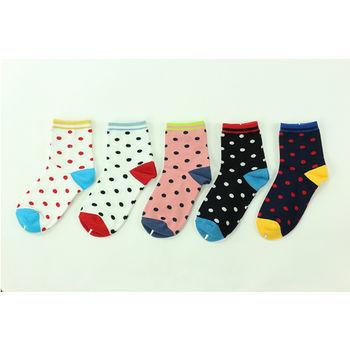 M&P 復古圓點女襪-5色(22~24cm)