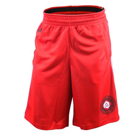 (男)ADIDAS ROSE IVY SHORT 短褲 紅/黑-AC0403