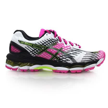 (女) ASICS GEL-NIMBUS 17 慢跑鞋- 路跑 健走 亞瑟士 白黑桃紅