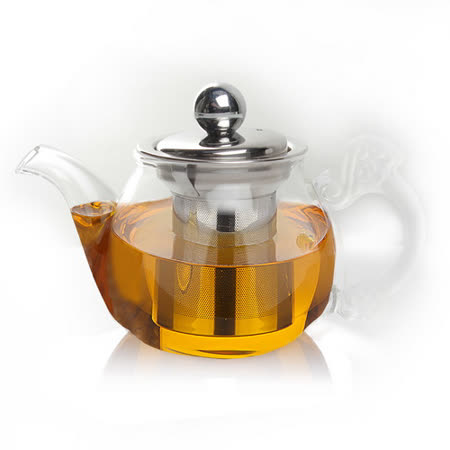 【偉升】耐熱玻璃不銹鋼茶漏泡茶壺/花茶壺150ML(K-11Z)