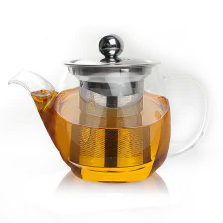 【偉升】耐熱玻璃不銹鋼茶漏泡茶壺/花茶壺450ML(K-60Z)