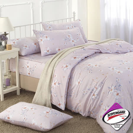 《DON浪漫花語》加大四件式蜜絲絨全鋪棉兩用被床包組