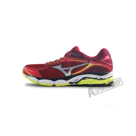 (男)MIZUNO美津濃 WAVE ULTIMA 7 慢跑鞋 紅/螢光黃-J1GC150905