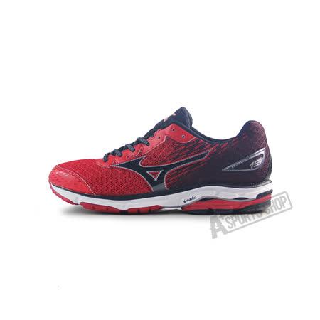 (男)MIZUNO美津濃 WAVE RIDER 19 慢跑鞋 紅/黑-J1GC160310