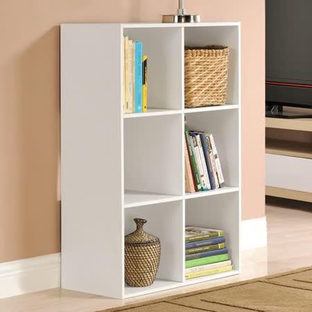 【Yomei】菲爾六格櫃/展示櫃/書櫃/收納櫃/隔間櫃(白色)