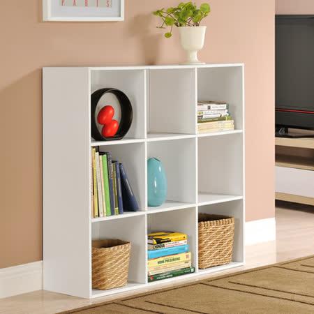 【Yomei】菲爾九格櫃/展示櫃/書櫃/收納櫃/隔間櫃(白色)