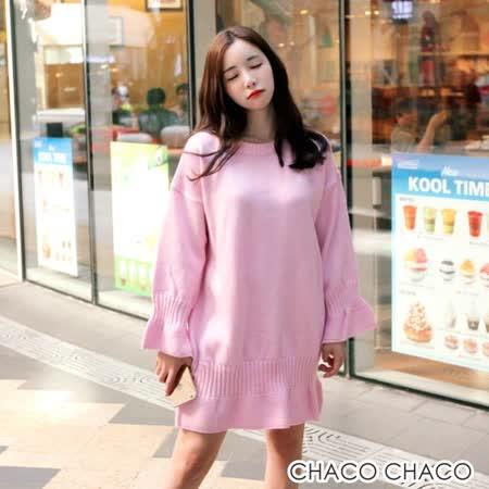 【預購CHACO韓國】正韓 CHERRYVILLE甜美修身魚尾裙擺針織長袖連身裙(3色)