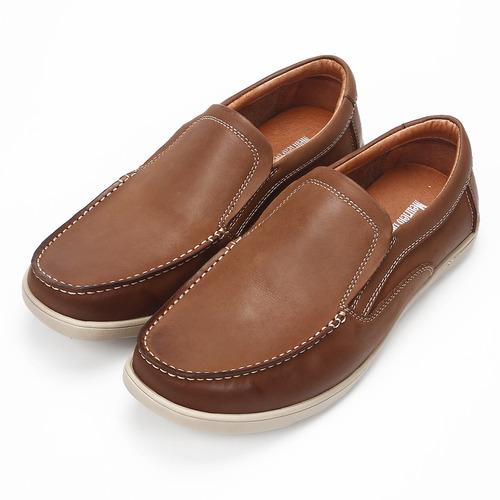 (男) MEURIEIO BELLIEI 義式寬楦油蠟牛皮休閒鞋 棕 鞋全家福