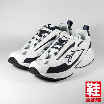 (男) DIADORA 2776 慢跑鞋 白藍 迪亞多那 鞋全家福